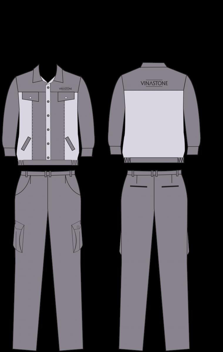 Mẫu thiết kế quần áo bảo hộ Vinastone